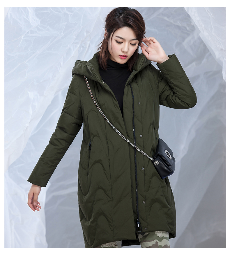 2017 New Hot Winter Thicker Keep Warm Woman Down Jacket Coat Parkas Simple Hooded Wild Straight Leisure Loose Plus Size 4xxxxl