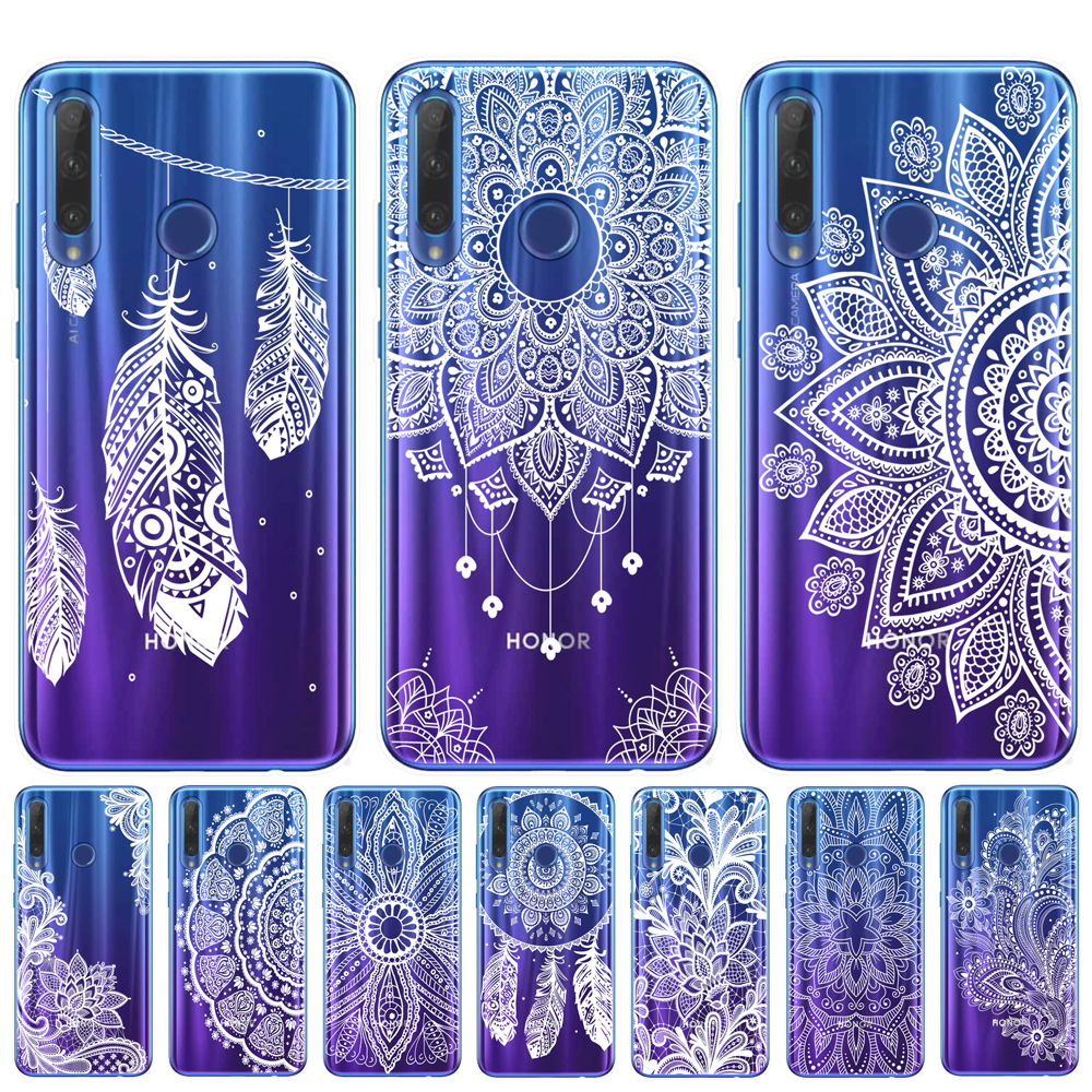 Retro Mandala Flower Phone Case For <font><b>Huawei</b></font> <font><b>Honor</b></font> <font><b>9</b></font> 10 20 <font><b>Lite</b></font> Pro Cover <font><b>TPU</b></font> Cases For <font><b>Huawei</b></font> Mate 10 20 <font><b>Lite</b></font> Pro Dreamcatcher image