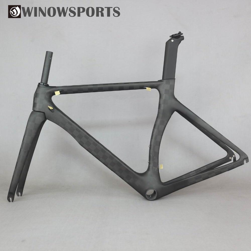 Winowsports 700c Hight Modulus Toray 18K Matte Carbon Road Bike Frames Bb92 Aero Racing 46 48 50 52 54cm Normal Rim Brake Frame