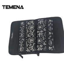 Temena 2018 New Printing ChiaoGoo Interchangeable Needle bag Storage Needle case for Knitting and Makeup Brush 25.3cm*15.3cm(China)