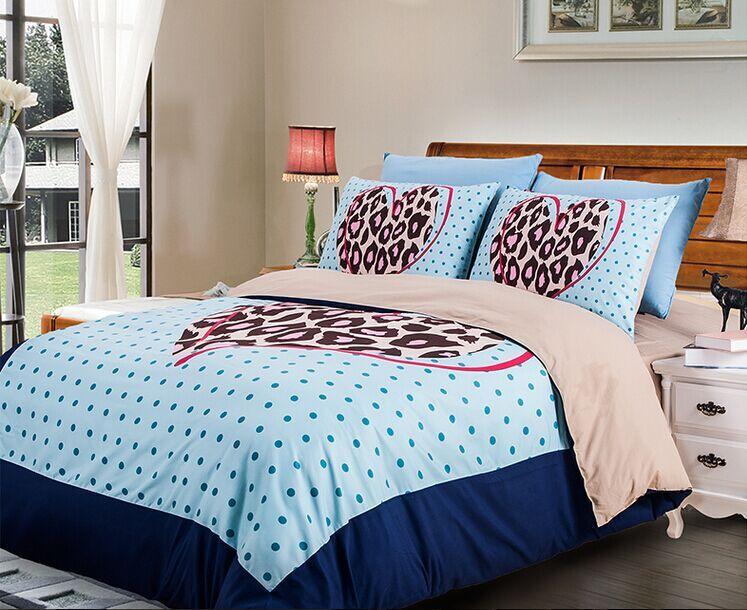 light blue polka dot brown leopard skin printed bedding sets twin full  queen king size bed. Online Get Cheap Light Blue Quilt  Aliexpress com   Alibaba Group