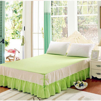 Korean style cotton stitching bedskirt set bed coverlet 1/3pcs quality bedspread set bedskirt with mattress cover free shipping