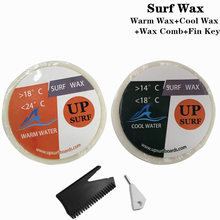 Surfboard WarmCoolTropical Water Wax  2 per set +Wax Comb+ Surfing SUP
