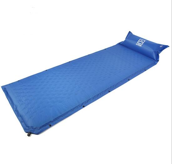 New Automatic Inflatable Mattress Self-Inflating Moistureproof Picnic Tent Mat with Pillow Outdoor Camping Mat Pad 190*65*2.5CM spliced air mattress self inflating pad automatic inflatable camping mat moistureproof folding tent bed outdoor sleeping airbed