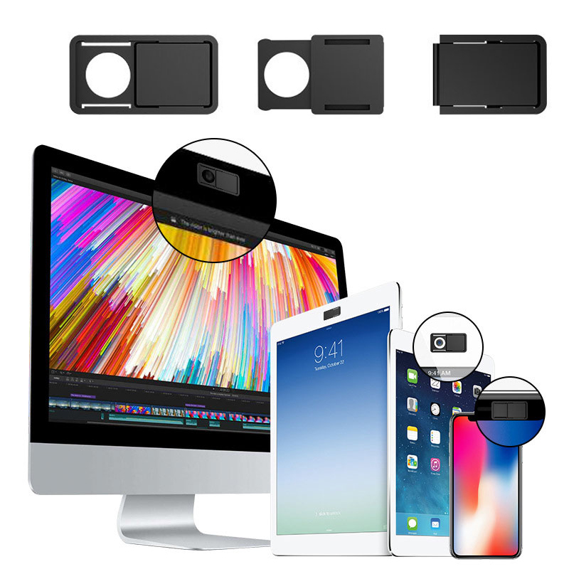 3pcs Webcam Cover Slider Camera Shield Privacy Protect Sticker For Laptop Phones
