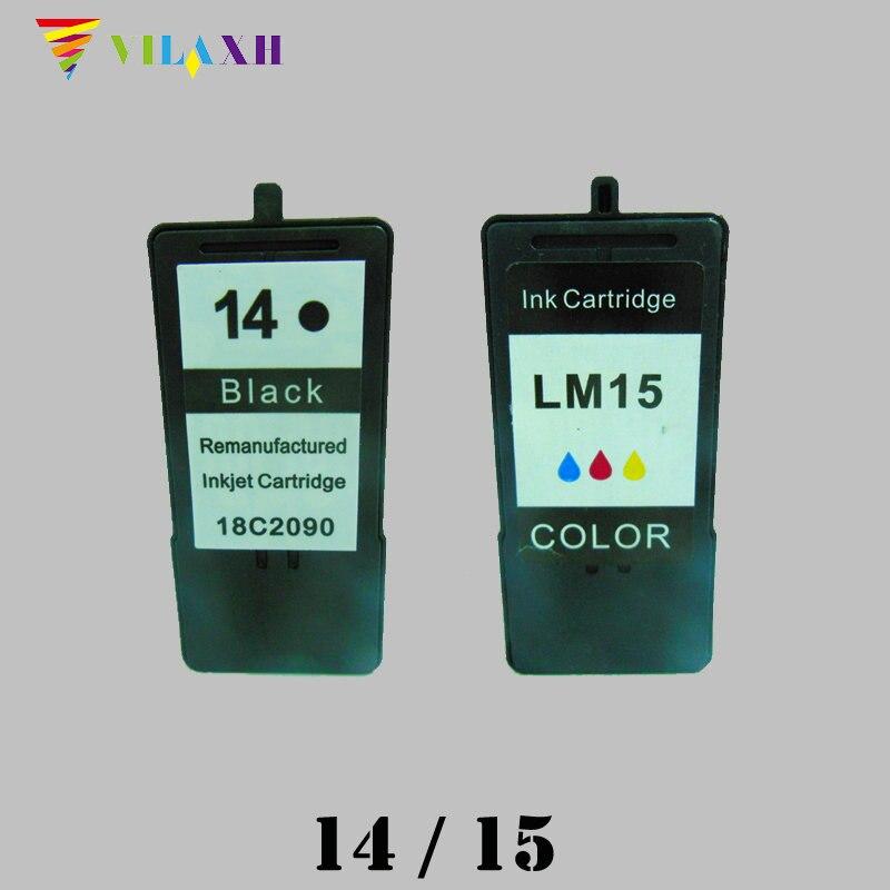 Para lexmark 14 15 cartucho de tinta para lexmark Z2300 Z2320 X2650 X2600 X2670 Z2310 X2630 impresora
