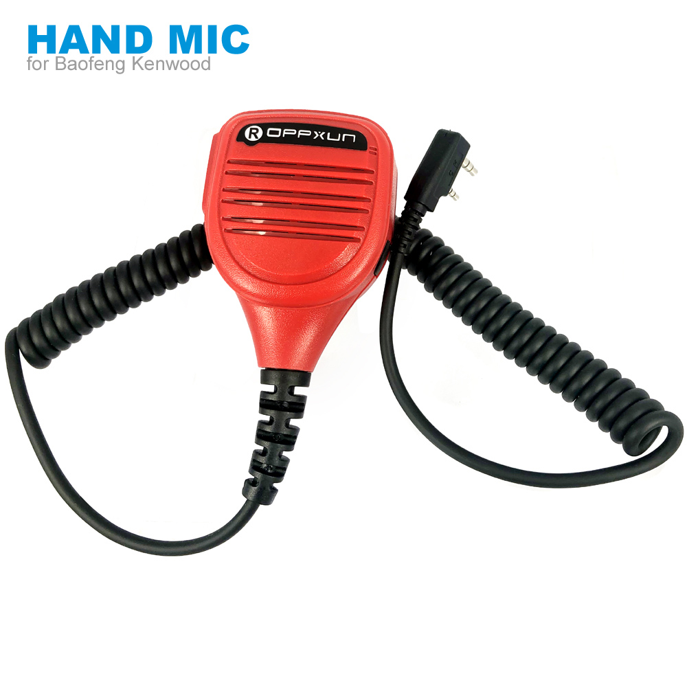 Red Hand Microphone Speaker Mic for Kenwood <font><b>Tk</b></font>-<font><b>3107</b></font> Baofeng UV-5R BF-888s GT-3TP Walkie Talkie Two Way Radio image