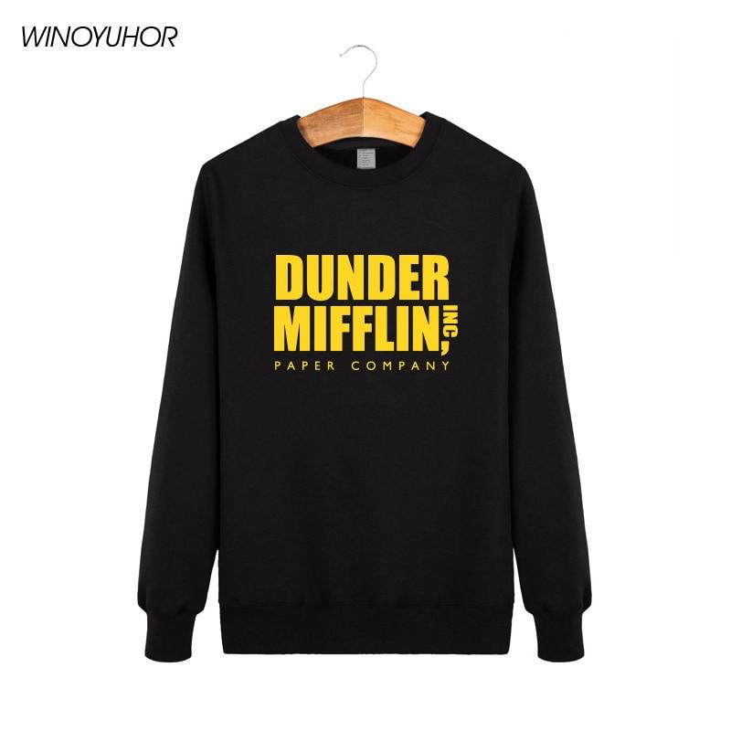 Dunder Mifflin Paper Inc Hoodies Men Hip Hop Cotton Sweatshirts Homme Camisetas Winter O Neck Tracksuit