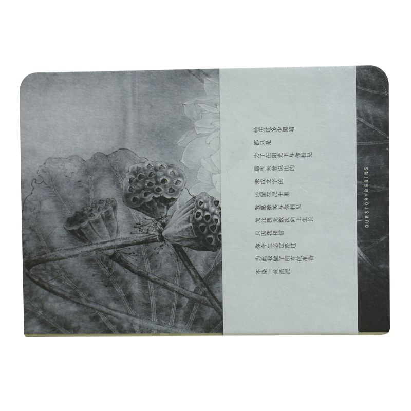 Sketchbook Blank Papers Diary Pocket Journal School Study Notebook Gray+white, Lotus D xuanxuan diary white xs