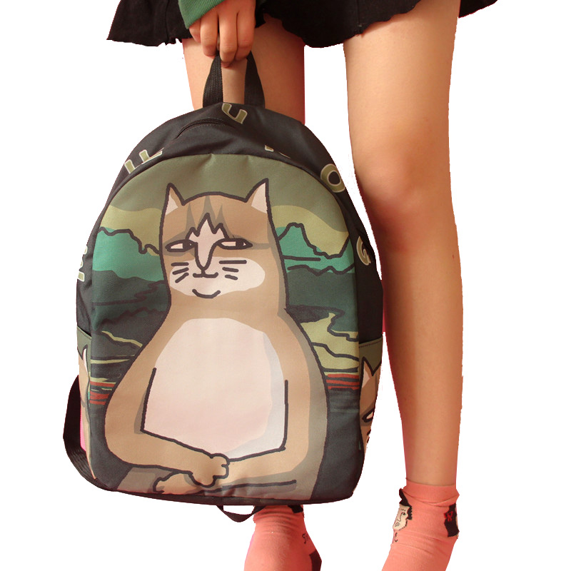 Women canvas backpack fashion cute travel bags printing backpacks new style laptop backpack for teenage girls