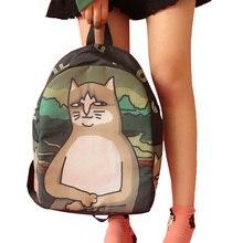 Frauen leinwand rucksack mode niedlichen reisetaschen printing rucksäcke neue stil laptop rucksack für mädchen im teenageralter 939