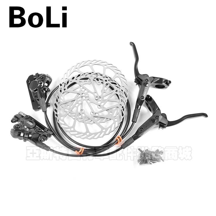 New 2 Pieces/Set BOLI shimate MTB Hydraulic Disc Bicycle Brake Set G3 Rotors w/Bolts Hot Sale new universal 76 pcs set screw bolts nuts for disc brake rotors mountain bike