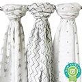 Verão 100% algodão Musselina camada Única toalha de bebê recém-nascido cobertor do bebê swaddle envoltório infantil 120x120 cm