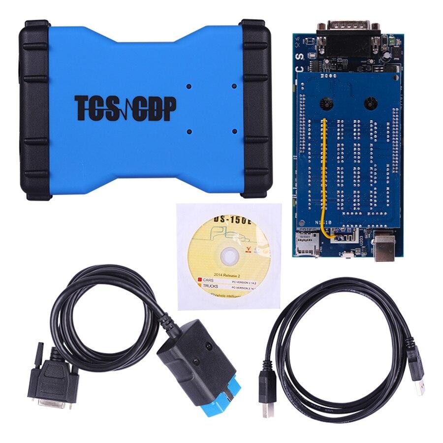 2017 TCS CDP Pro + avec Scanner Bluetooth scan OBDII et 2014. R2 pas de Keygen sur CD Cdp 3 en 1 voiture camion outil de Diagnostic générique