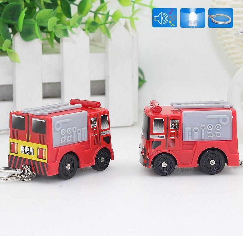 Популярные Новые прибыл пожарный автомобиль фонарик брелок со звуком, подарок детям брелок, брелок, брелок