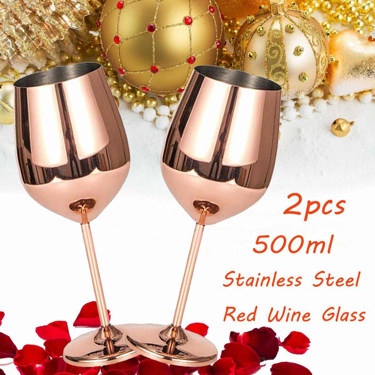 501-600ml Shatterproof Stainless Steel Red Wine Cup Anti-broken Wine Glasses Stemware Wine cup Durable Drinkware Bar Tools