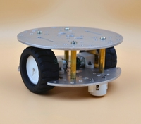 MINI 2WD 2 Layer Metal aluminium alloy Smart Robot Car Chassis KIT For Arduino SN50 CNC