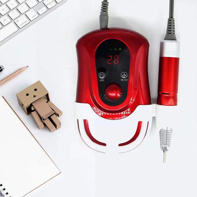 New Pattern Beautiful First Charge Polish manicure Machine Portable 30000 High Capacity nails drill Nail art equipment stylish 24 pcs smile expression pattern nail art false nails page 1