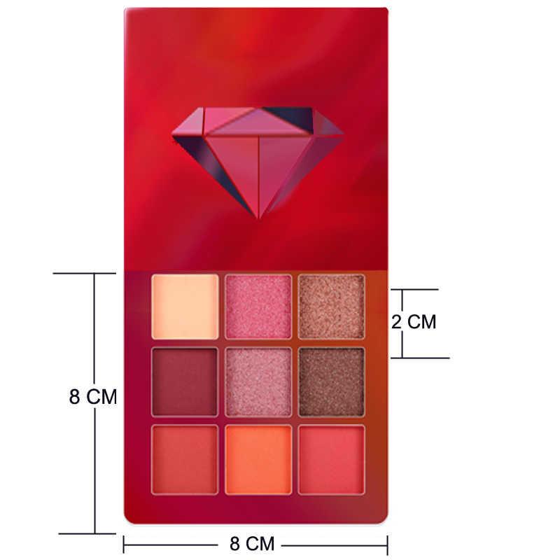 9 色グリッターアイシャドウメイクパレットマットアイシャドウと輝きダイヤモンドアイシャドウパウダー顔料化粧品