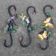 Cast Iron Plant Hook ~ Birdfeeder Hanger~Dragonfly shape-Butterfly shape