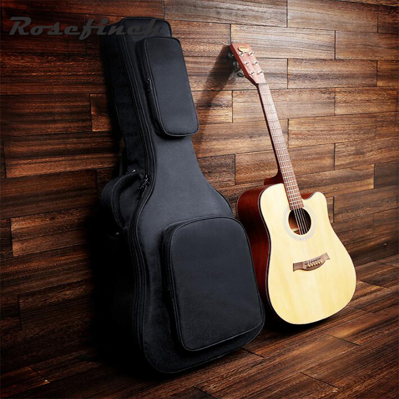 Top Quality 40/41 inch Thickened Shoulders Acoustic Guitar Bag Waterproof Oxford Cloth Guitar Backpack Travel Guitar Case QB14 shoulders thickening ballad guitar bag wooden guitar backpack 41 inch waterproof guitar electric bass bag electric guitar bag