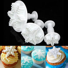 New 3Pcs/Set Snowflake Fondant Cake decorating tools Cupcake Kitchen fondant Kitchen accessories Cake mold Stand cake baking