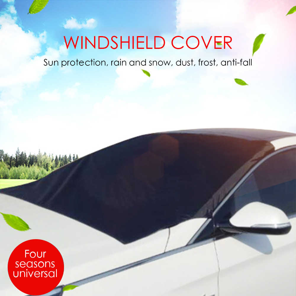 TOSPRA Car Windscreen Windshield Outdoor Protector Cover For Winter Ice Snow Wiper Exterior Shield Guard Keep Car Vehicle 1 Pcs