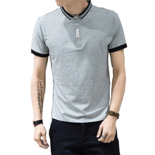 Mens Polo Shirt  Summer M-5XL Striped Polo Shirts For Men Turn Down Collar 100% Cotton Men Polo