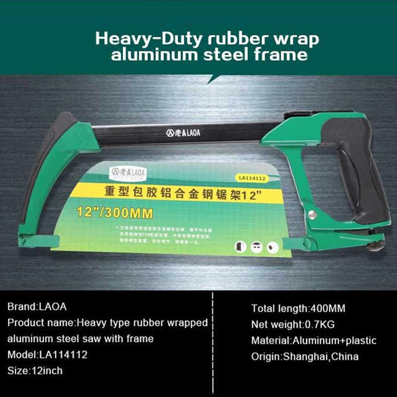 LAOA Yeni Varış 12 inç Ağır Kauçuk Sarılı Alüminyum Alaşımlı Çelik Testere Çerçeve Bahçe Wonder Testere El Rip Testereler