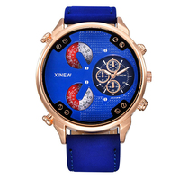 Brand Watches Mens Leather Strap Quartz Watch Male Military Designer Watches Cheap Wholesale Clock Montres De
