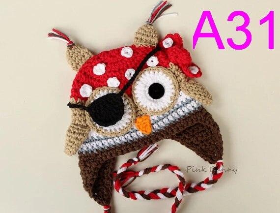 Pirate Owl beanie