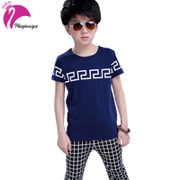 Children Toddler Baby Kids Boys Clothes Sets Summer Cute Plaid Tops T Shirt Pants Shorts Outfits