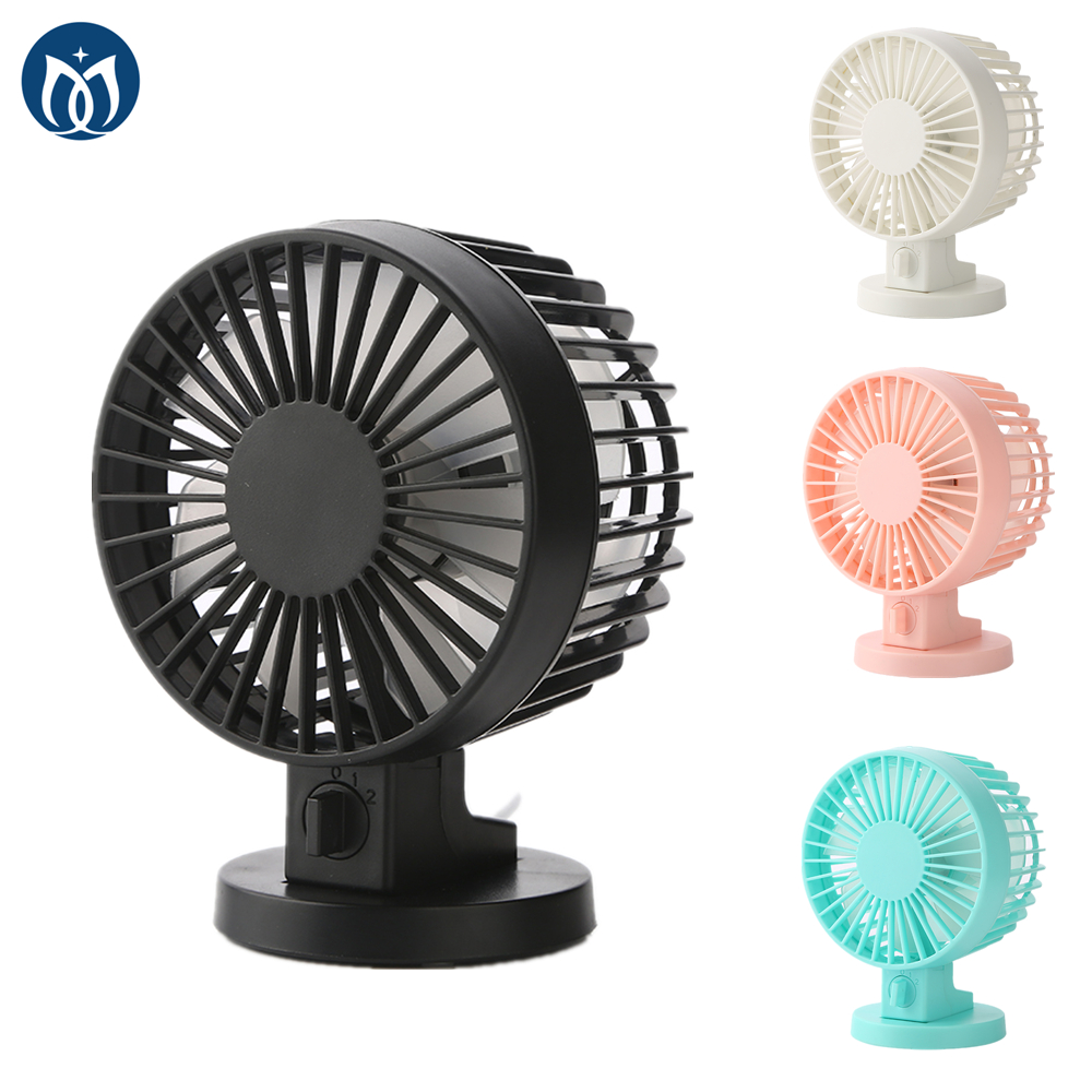Dual Blades Usb Table Fan Desk Pc Laptop Air Cooling 4