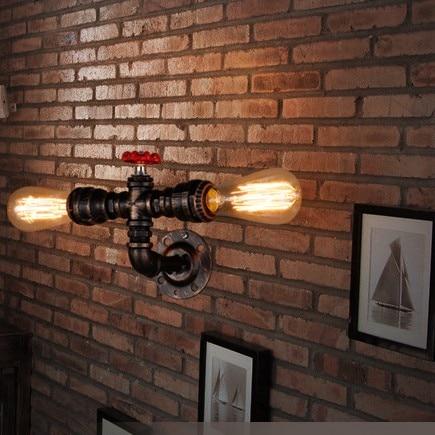 Rétro Éclairage Mural Lampe Vintage E27 De Base Grenier Fer Applique ...
