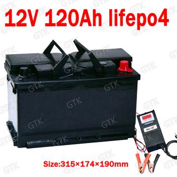 GTK 12 8V Lifepo4 12V 120AH bateria litowa BMS 4S do łodzi inwerterowych samochód kempingowy UPS gokart przechowywanie energii słonecznej + ładowarka 10A tanie i dobre opinie Baterie Tylko Pakiet 1 315*174*190mm 100A black more than 2000 cycles 11 1kg 12 months (free warranty) fresh stock