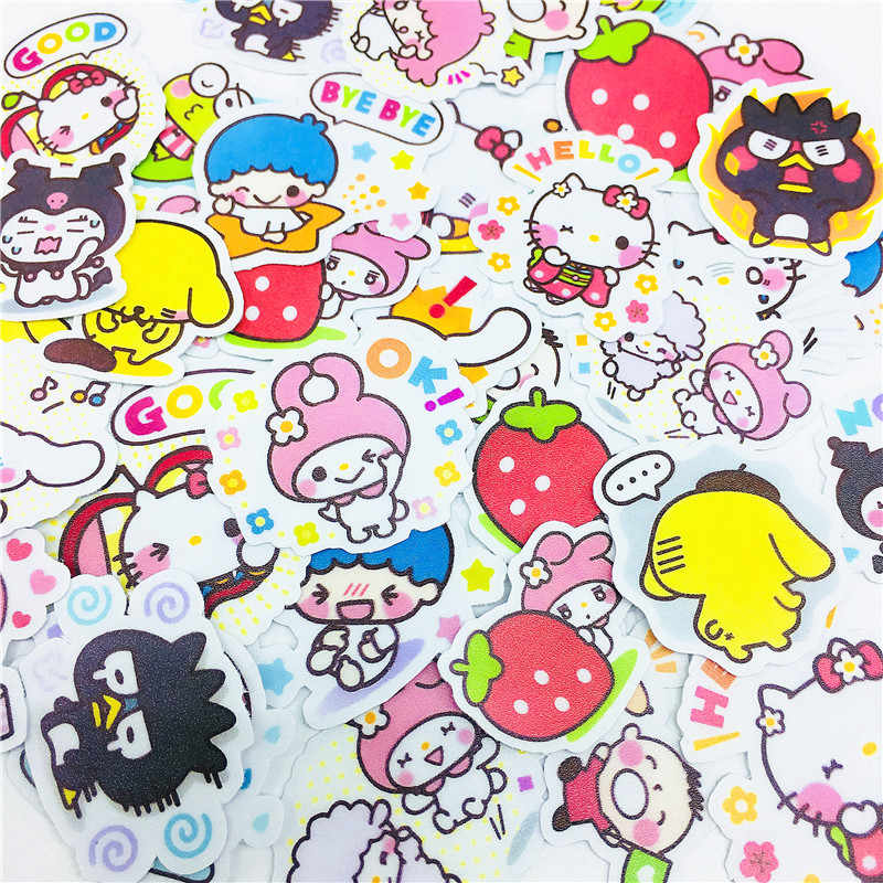 38 PCS Anime meng naughty twin starss Stickers Crafts And Scrapbooking stickers book Student label Decorative sticker kids toys