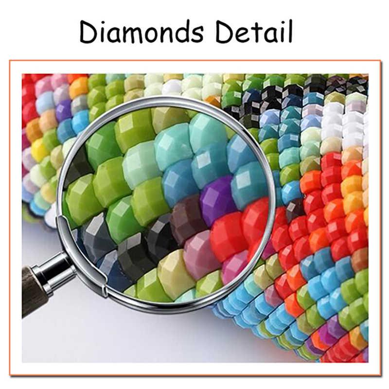 الماس الصورة جدار 5D DIY التطريز كلب المنزل الديكور يترك اللوحة الكامل الحفر مربع عبر الابره الديكور Beadwor