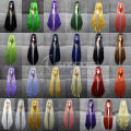 80-100cm Women Long Straight Hair Full Lace Human Synthetic Wigs Cosplay Inoue Orihime/Langley/Fenette/Shana/Erza Scarlet Wig