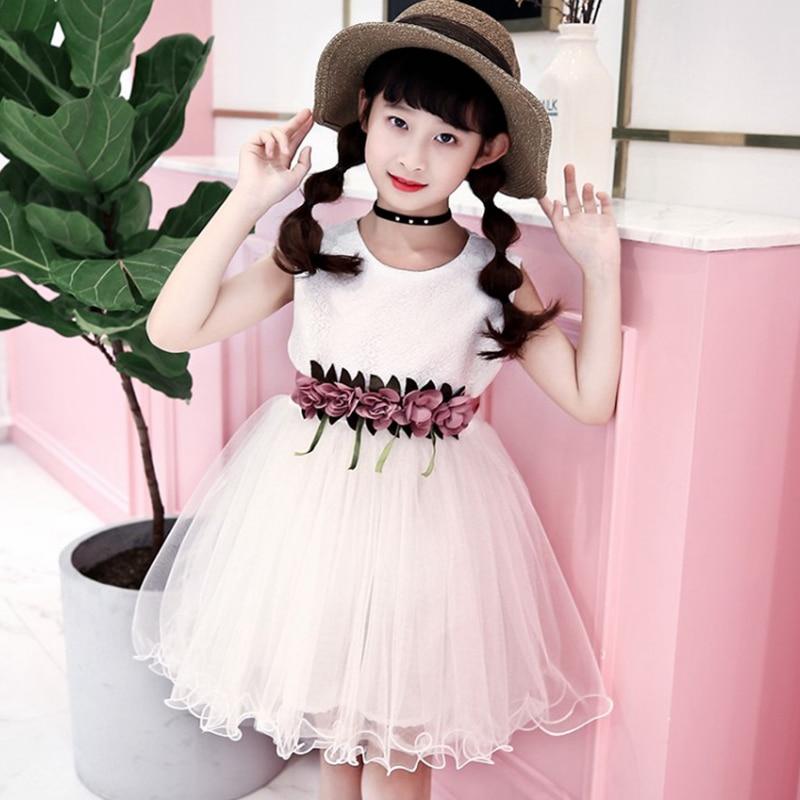 Girl Dress Kids Children Dress Girls sleeveless Princess dress Girl 110 160cm outfit Clothes 2019 New fashion princess summer in Dresses from Mother Kids