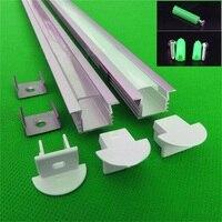 20 80 м, 10 40 шт. 2 м, 80 дюймов/pc светодио дный алюминиевый профиль для 11 мм печатной платы, встроенные светодио дный канала для 5050 полосы светодио