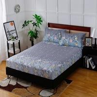 Beddengoed Hoge Kwaliteit Hot En Comfortabele Zachte Roze Bloemmotief Hoeslaken + Kussensloop Comfortabel En Ademend