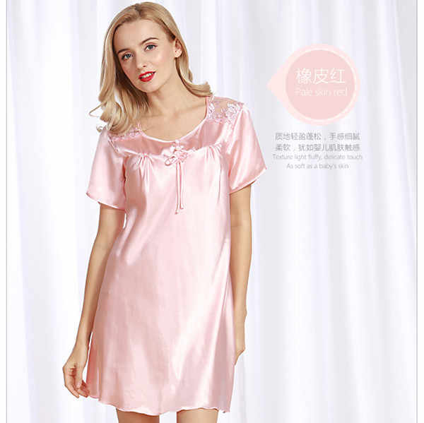 f0ad05ee50 ... Sexy Nightie Large Size Nightgowns Sleep Dress Women Summer New Silk  Satin Lingerie Long Nightgowns For