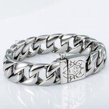 15mm de Acero Inoxidable 316L pulsera de Cadena del Encintado Pesado hombres Niños Pulsera de moda Joyería Al Por Mayor Precio LHB04