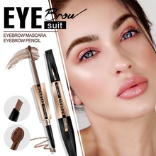 1PC Eyebrow Cream Pen Two-In-One Long-Lasting Waterproof Makeup Product
