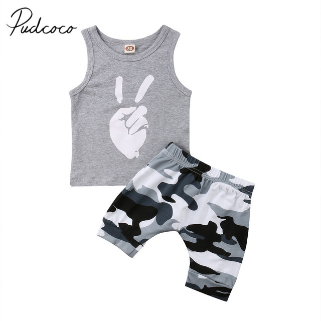 eaae68533 2018 Brand New Toddler Infant Baby Boy Kids Clothes T-shirt Tee Finger Tops  +