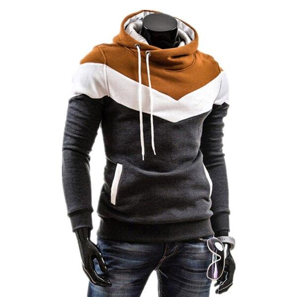 2017 Hot Sale Mens Fashion Hoodies And Sweatshirt Male Casual Patchwork Slim Fit Hoodies 6 Colors Plus Size M-3XL