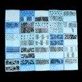 48 Folhas Branco Black Lace Flor Nail Art Transferência de Água Adesivos Decalques Manicure PVC Material de Proteção Ambiental