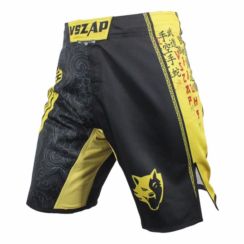 2017 Vszap Pantalon Mma Shorts Economici Mens Mma Breve Abbigliamento Di Cotone Traspirante Shorts Lotta Grappling Boxing Muay Thai Pantaloni