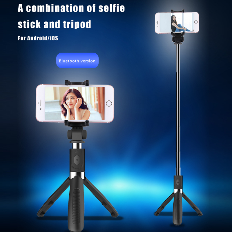 Image 4 - Selfie Bluetooth Selfie Stick Tripod Universal Selfie Stick Mobile Phone Monopod tripod For Android Ios for iPhone 6 7 8 x maxLive Tripods   -