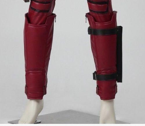 Cosplaydiy X-Men Deadpool Shin Guards Deadpool Leg Guards Calf Band Leg  Warmer Adult Men Halloween Cosplay Accessories Props a0ef5cde0dba